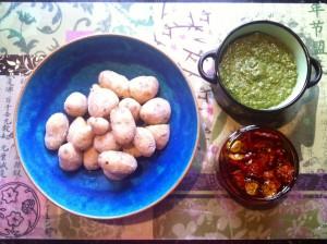 Papas Arrugadas, Mojo verde und eingelegte Tomaten