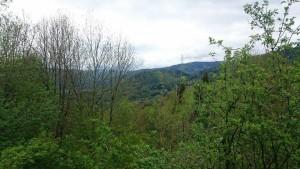 Blick in die gegenüberliegenden Berge