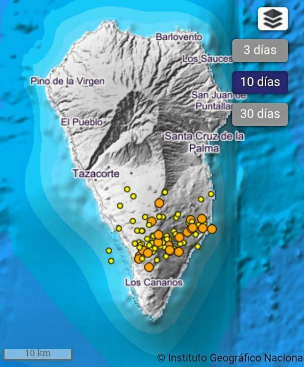 Schwarmbeben unter der Isla bonita
